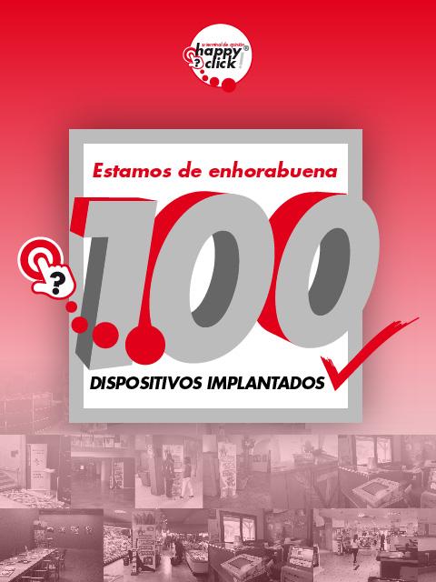 Happyclick alcanza las primeras 100 instalaciones de dispositivos happyclick box en España.