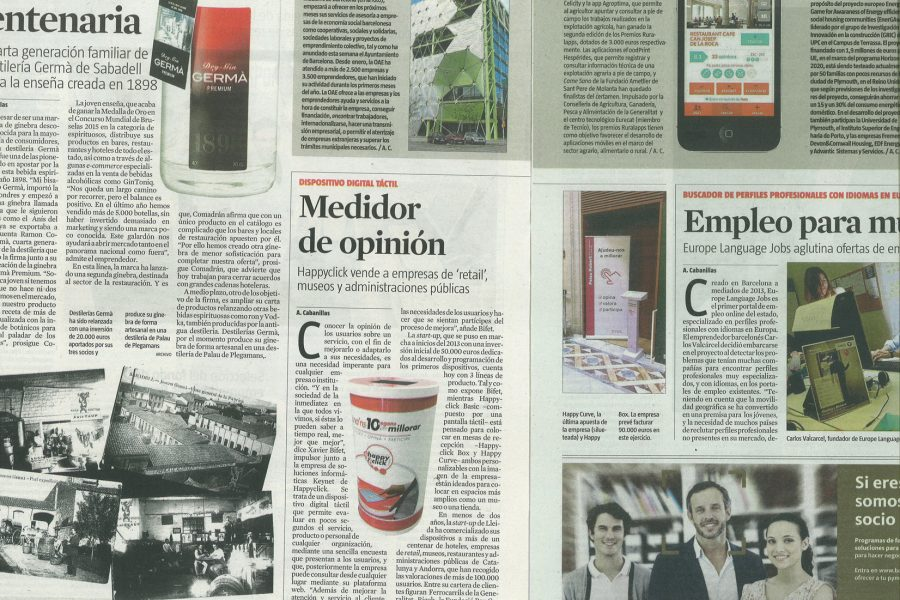 Happyclick en La Vanguardia