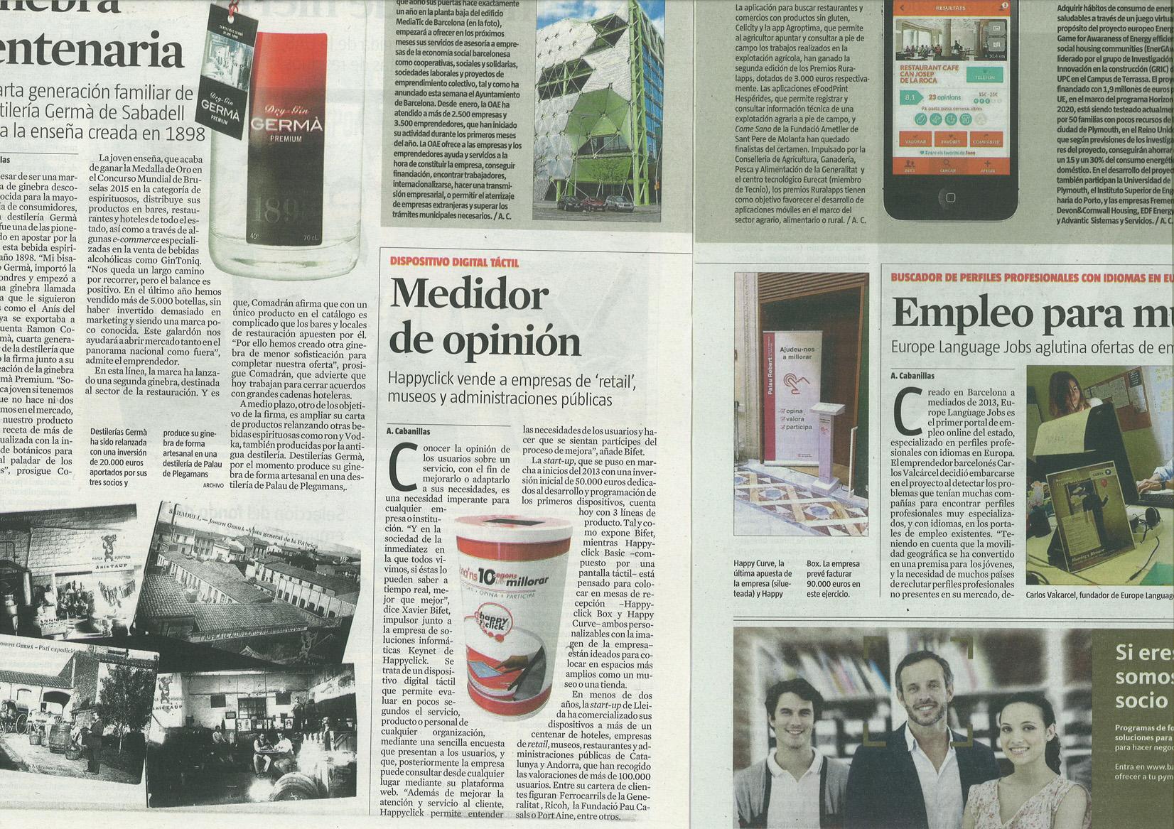 Happyclick en La Vanguardia
