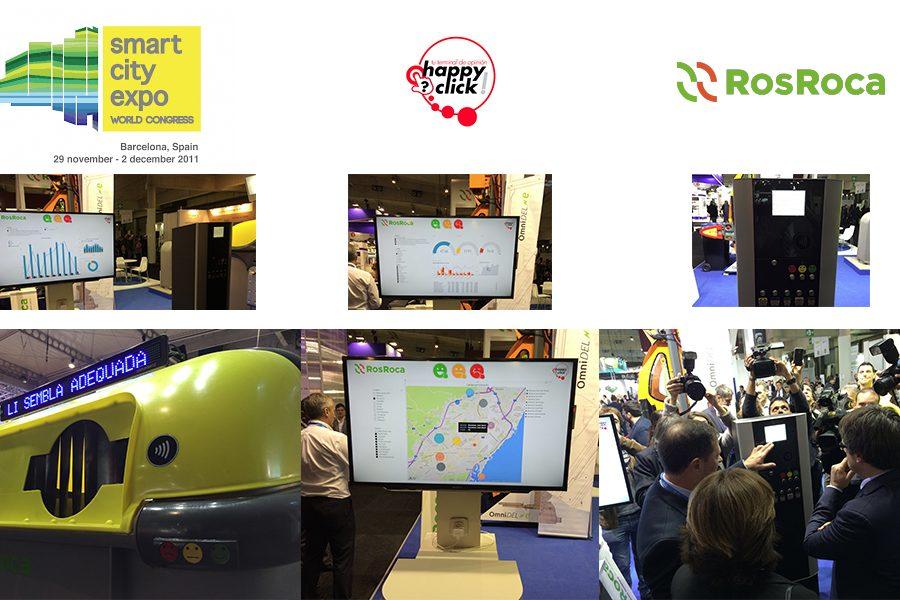 Happyclick ha estado presente esta semana en la Smart City Expo World Congress en colaboración con ROS ROCA