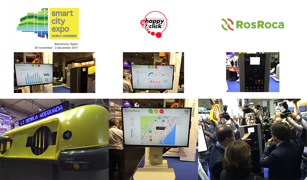 Happyclick ha estado presente esta semana en la Smart City Expo World Congress en colaboración con ROS ROCA