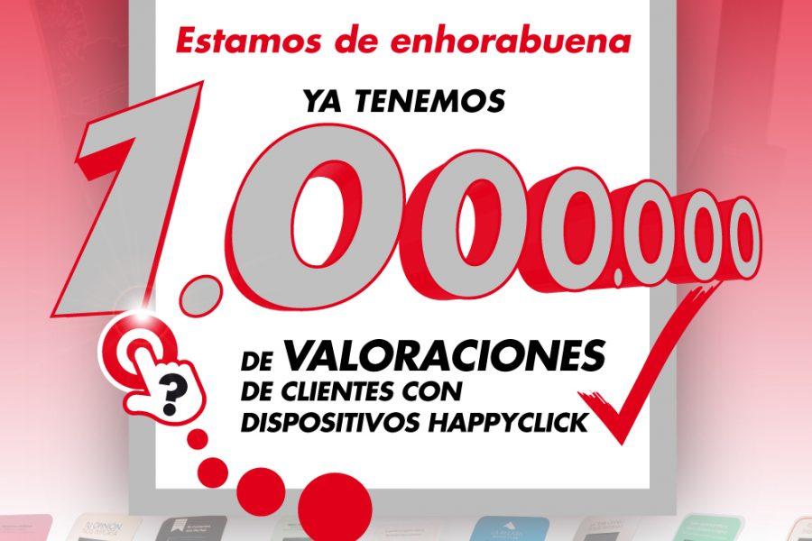 Happyclick alcanza 1.000.000 de valoraciones de clientes, con sus dispositivos táctiles.
